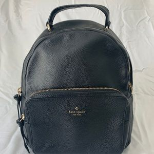 Kate Spade Larchmont Ave Pebbled Black Backpack